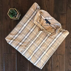 Tommy Hilfiger mens XXL plaid button down EUC